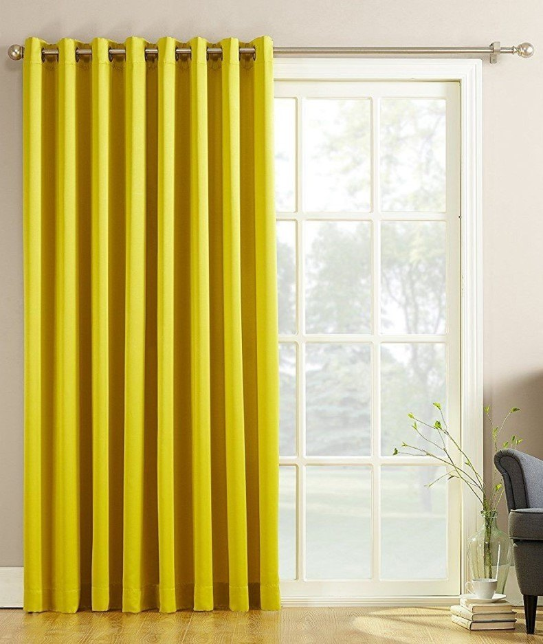 Extra Wide Energy Efficient Patio Curtain Panel