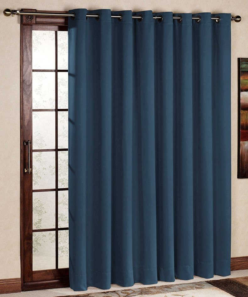 Sliding Door Curtains - Antique Bronze Grommet Top