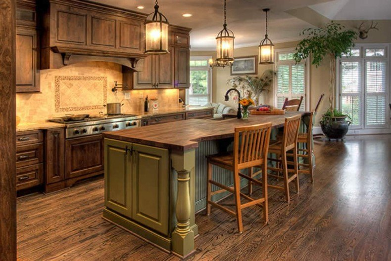 Astonishing Country Kitchen Cabinets Design