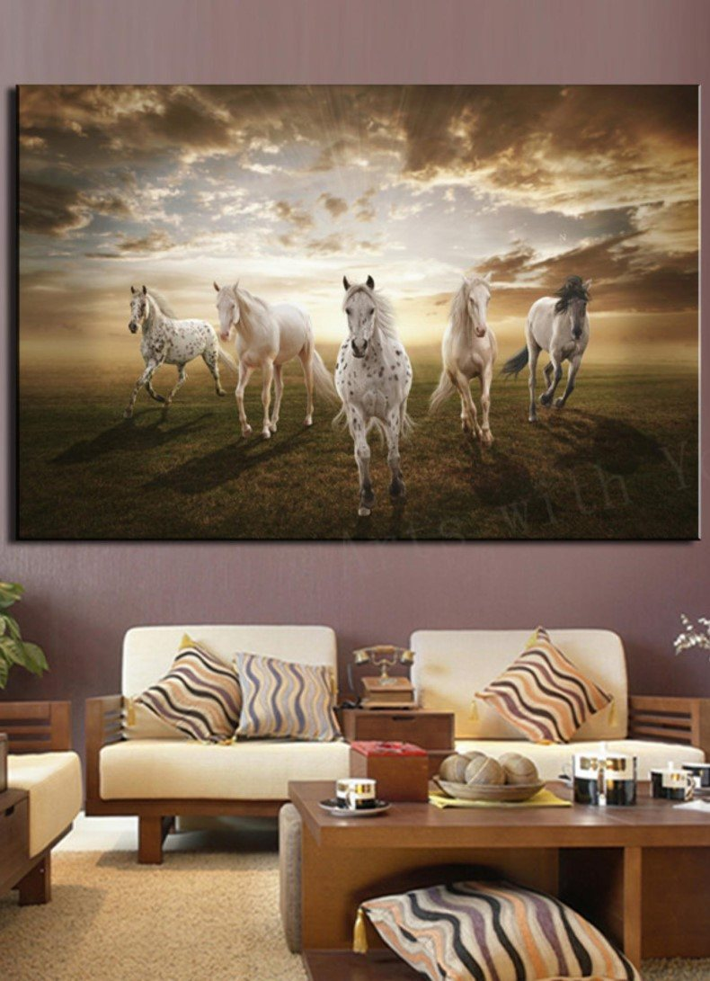 Running White Horse Decor