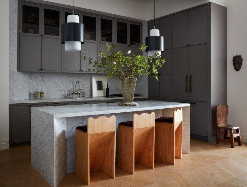 Gray Cabinet Kitchen Design