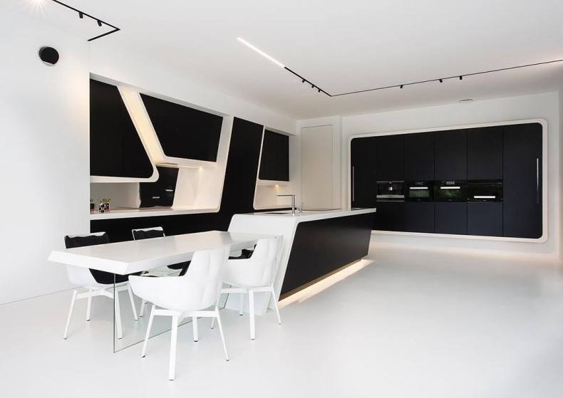 Black and white kitchen decor has modern techniques, high-quality materials, very trendy elements and even more.