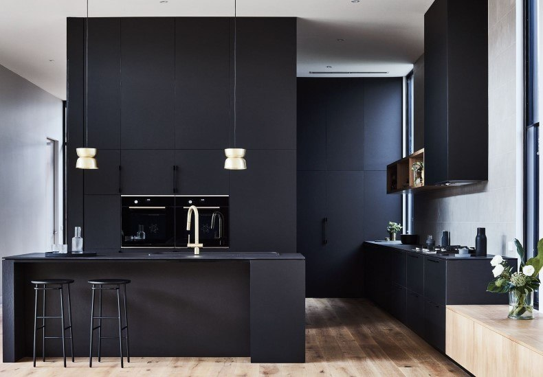 Black Kitchen Layout