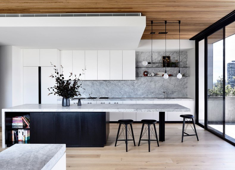 Marble Countertop And Backsplash For Kitchen Decor