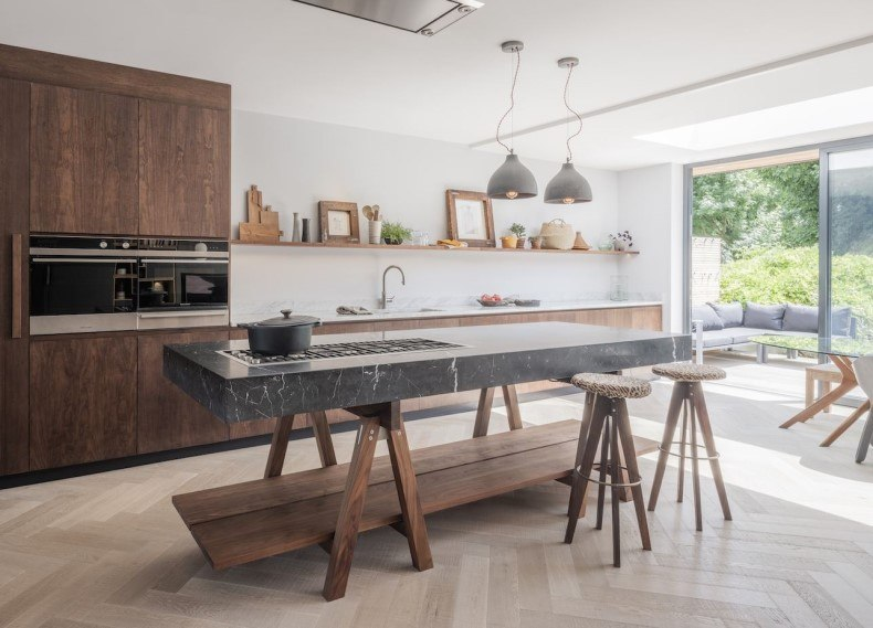 Naked Kitchen With a Island