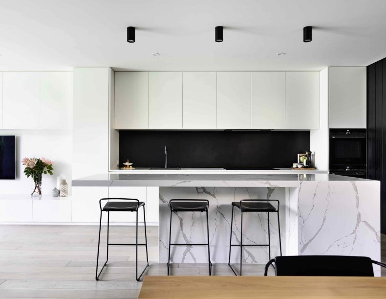 White Kitchen Design With Countertop