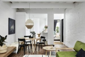 White Walls And Exposed Bricks