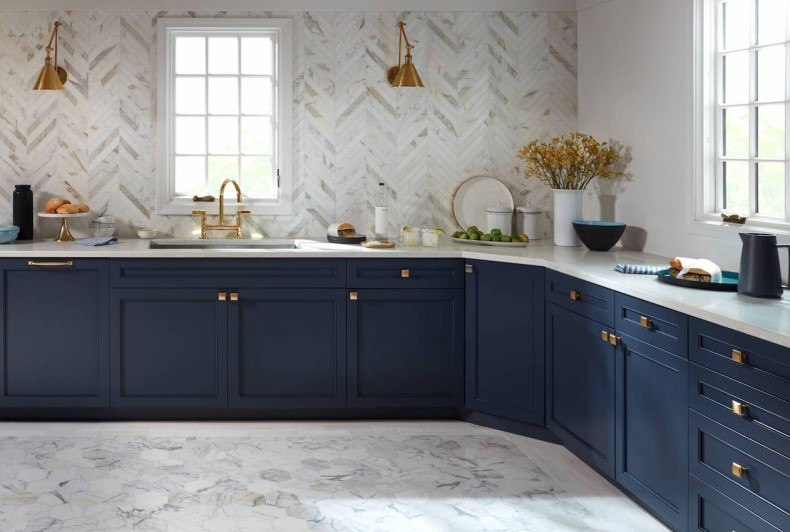 Blue Modern Kitchen Cabinets