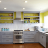 Paint In Lime The Wall Above Backsplash
