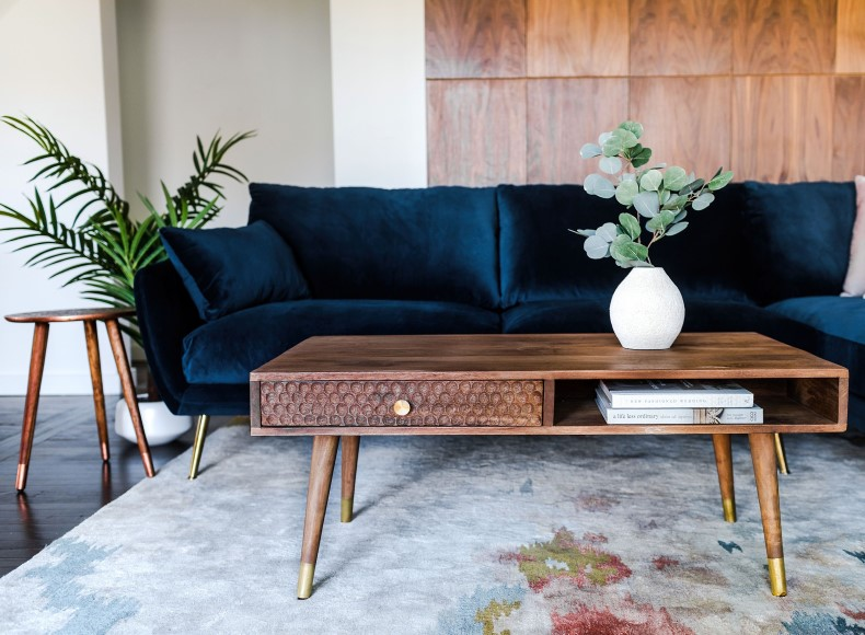 Mid-Century Solid Coffee Table